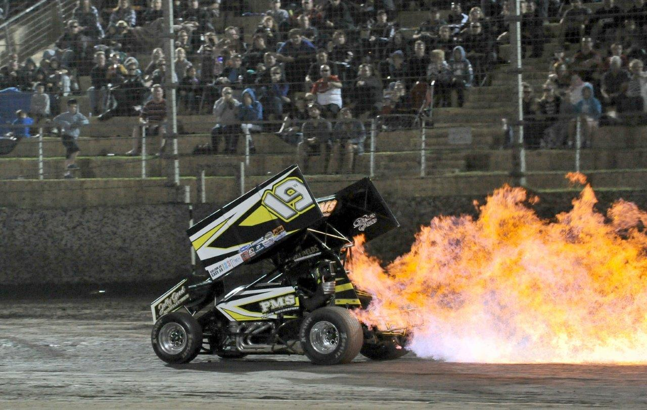 After Burner Torch: Trent Pigdon lights up his #19 in a big way