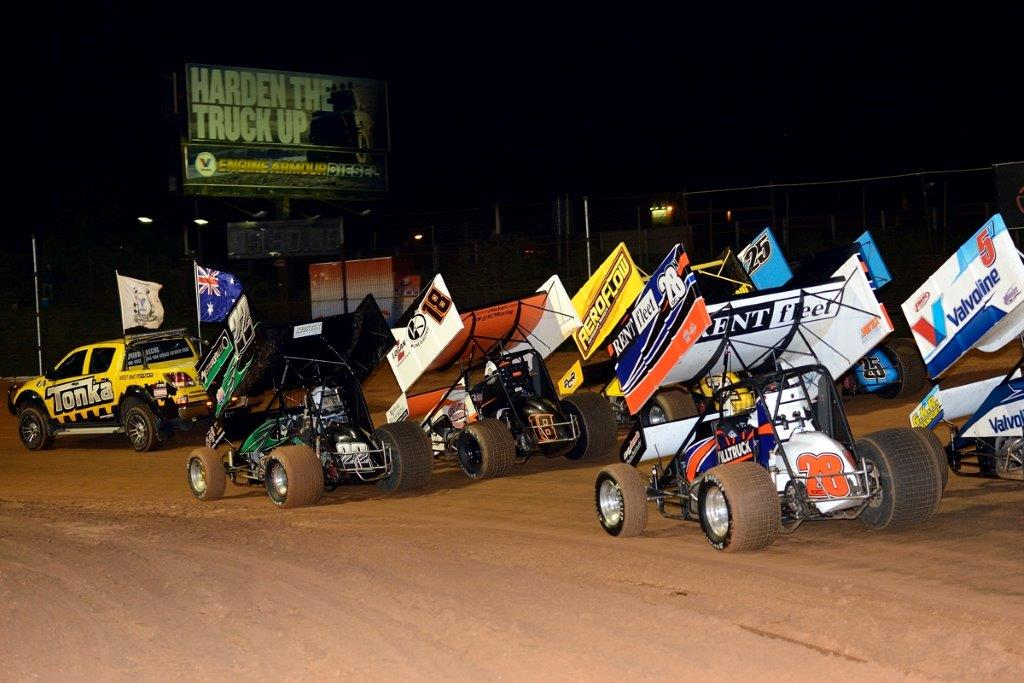 4-wide salute with James Thompson (22) on pole