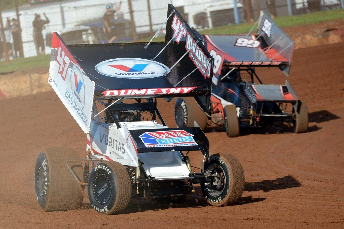 Marcus Dumesny leads Jay Waugh