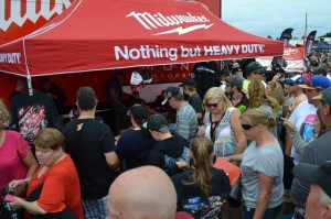The Luch Monte owned #17 Milwaukee Tools display was particularly popular - Kyle Hirst drove the #17 Maxim