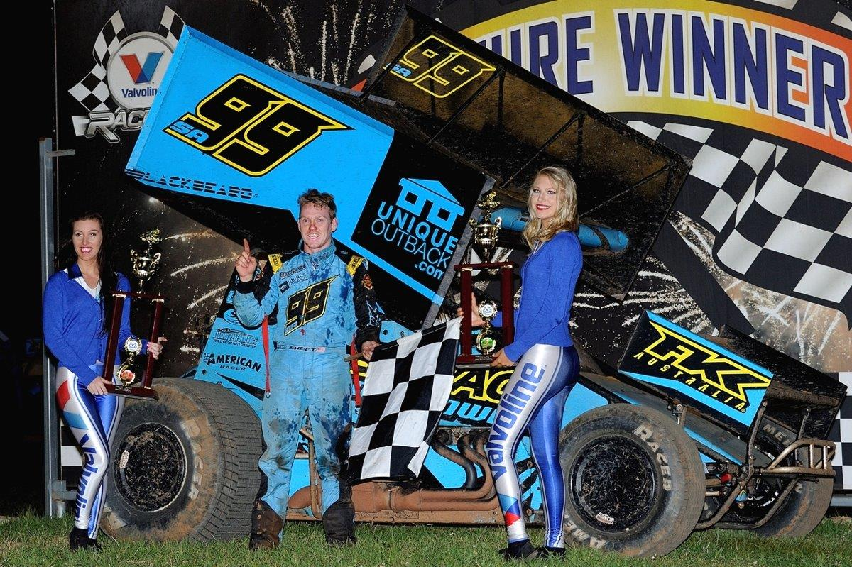 Brad Sweet won the first of two Sprintcar A Mains