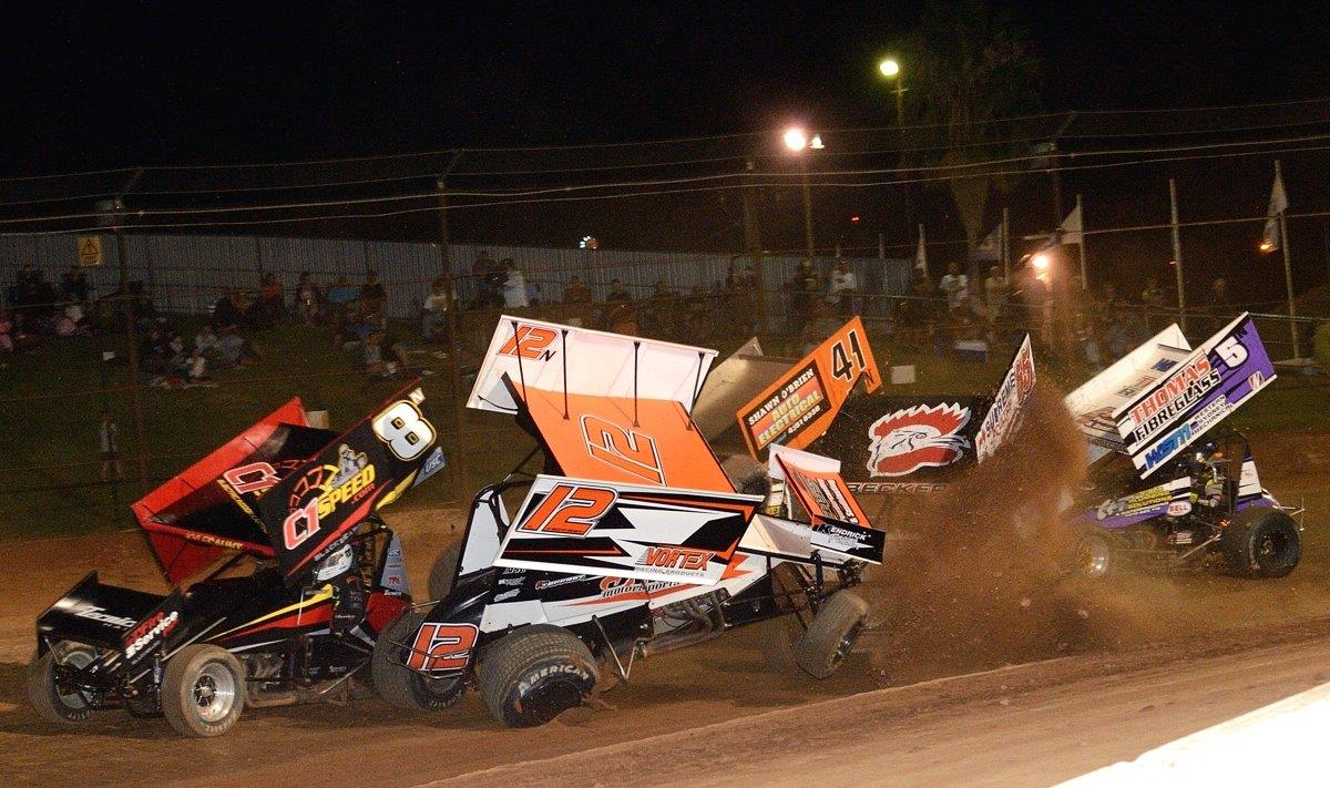 Thomas Jeffrey (12) in trouble in the C Main