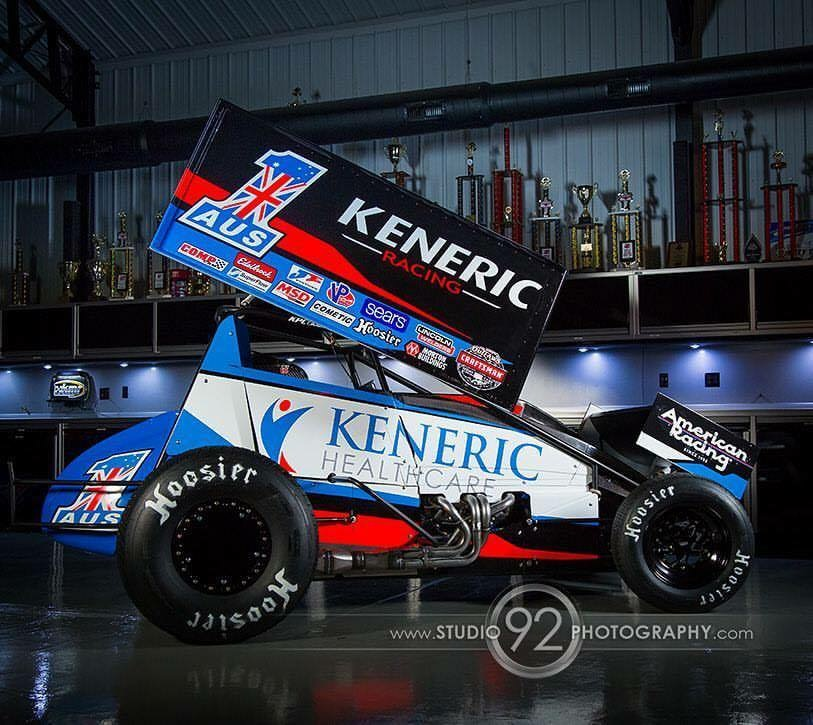 The US car as raced in the Knoxville Nationals paying homage to the Teams Australian Championship victory (AUS 1) - Photo by Studio 92 photography via facebook