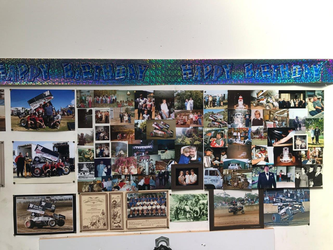 A ripper photo board greeted guests as they entered the BSR inner sanctum