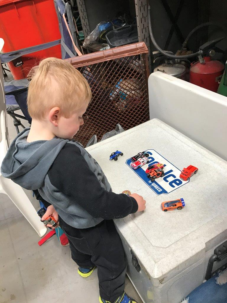 Even little Zeke Warren rocked up, played with his cars enjoyed the roast and polished the day off with a soft serve ice cream