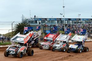 5 World Series Sprintcars Champions pay tribute to the late Shane Krikke - Brook Tatnell (2), Robbie Farr (7), James McFadden (17), Jamie Veal (35), Max Dumesny (5)