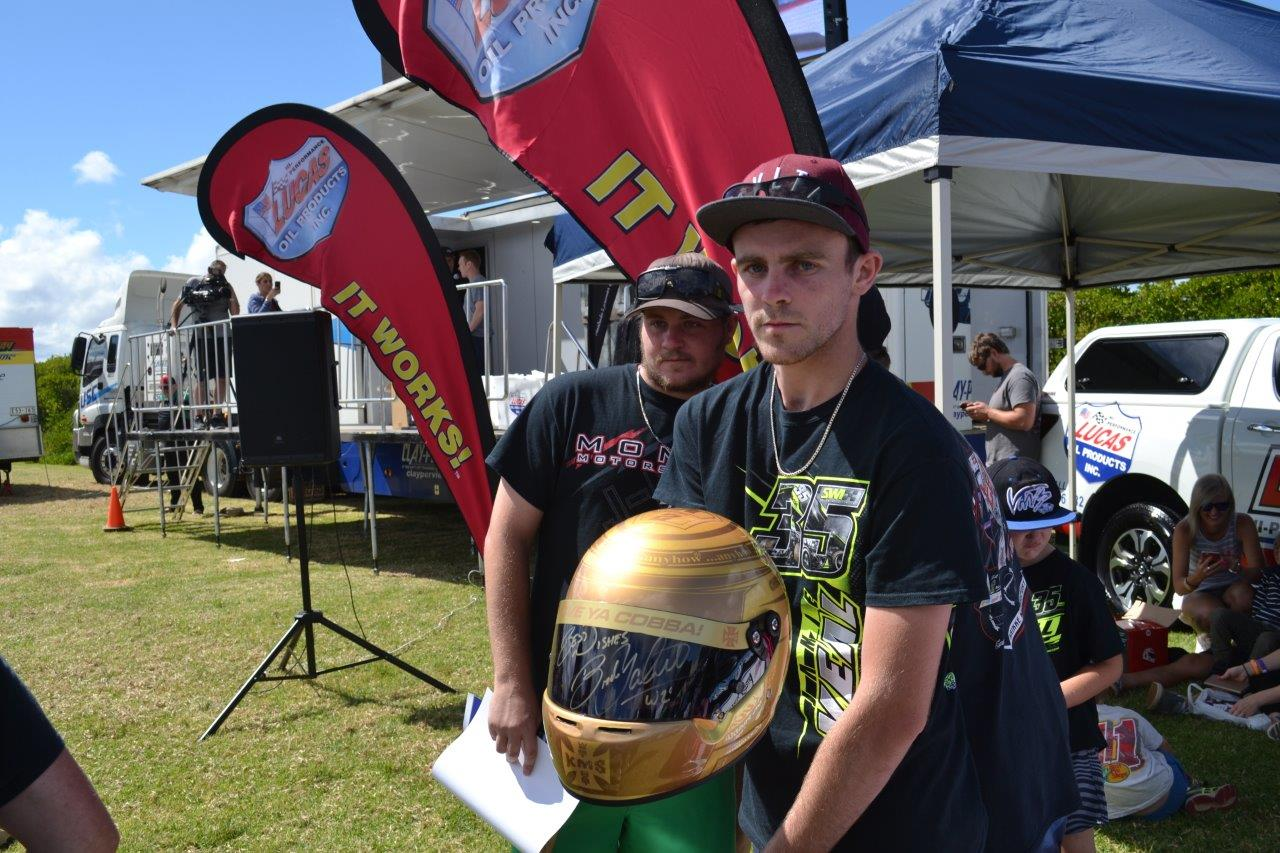 This fan purchased a Brooke Tatnell replica helmet