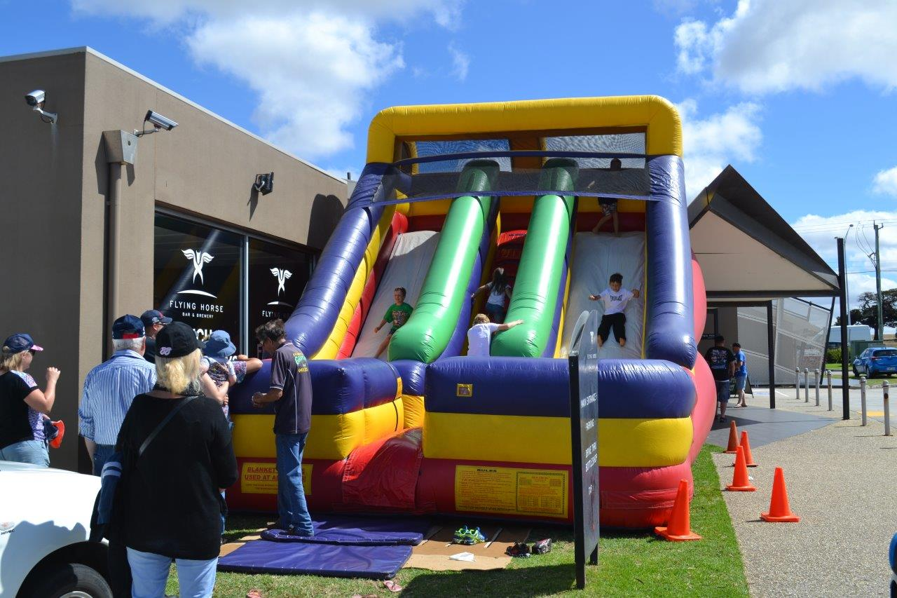 Family Fun: The kids also had this ripper inflatable castle to entertain themselves with