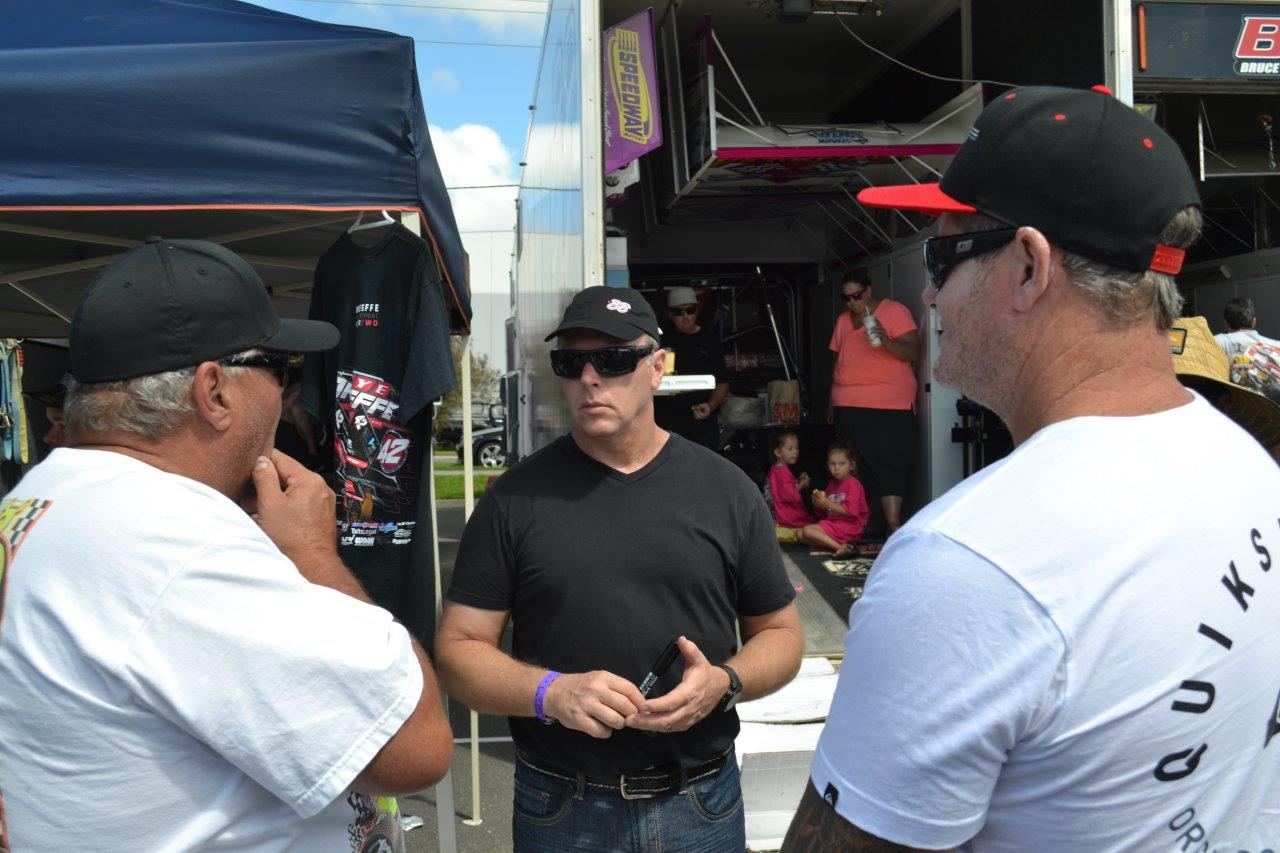 USA Star Greg Hodnett chats with a couple of keen fans