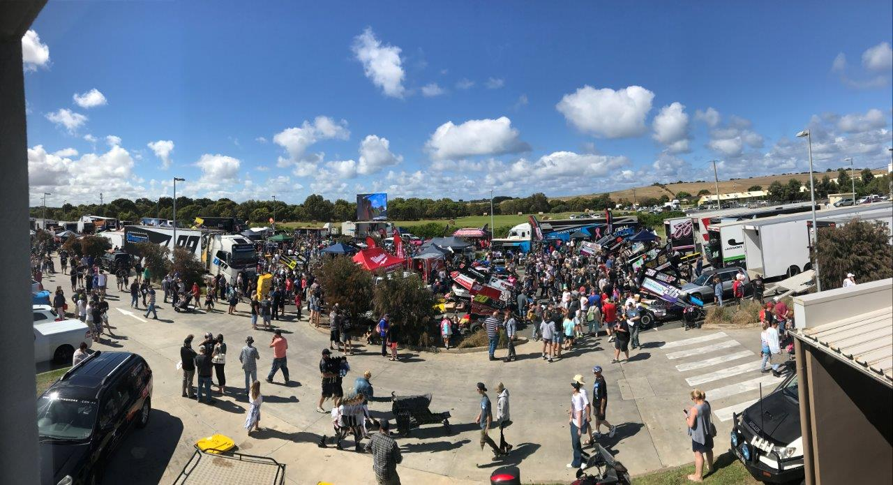 The View of the 2017 GASC Fan Appreciation Day from the Flying Horse Board Room