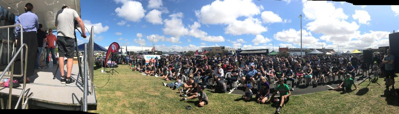 Gavin White as usual had the huge crowd entertained