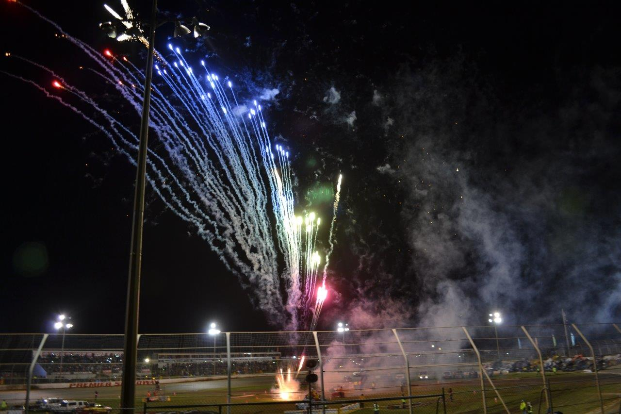Fireworks erupt as Tatnell crosses the line first