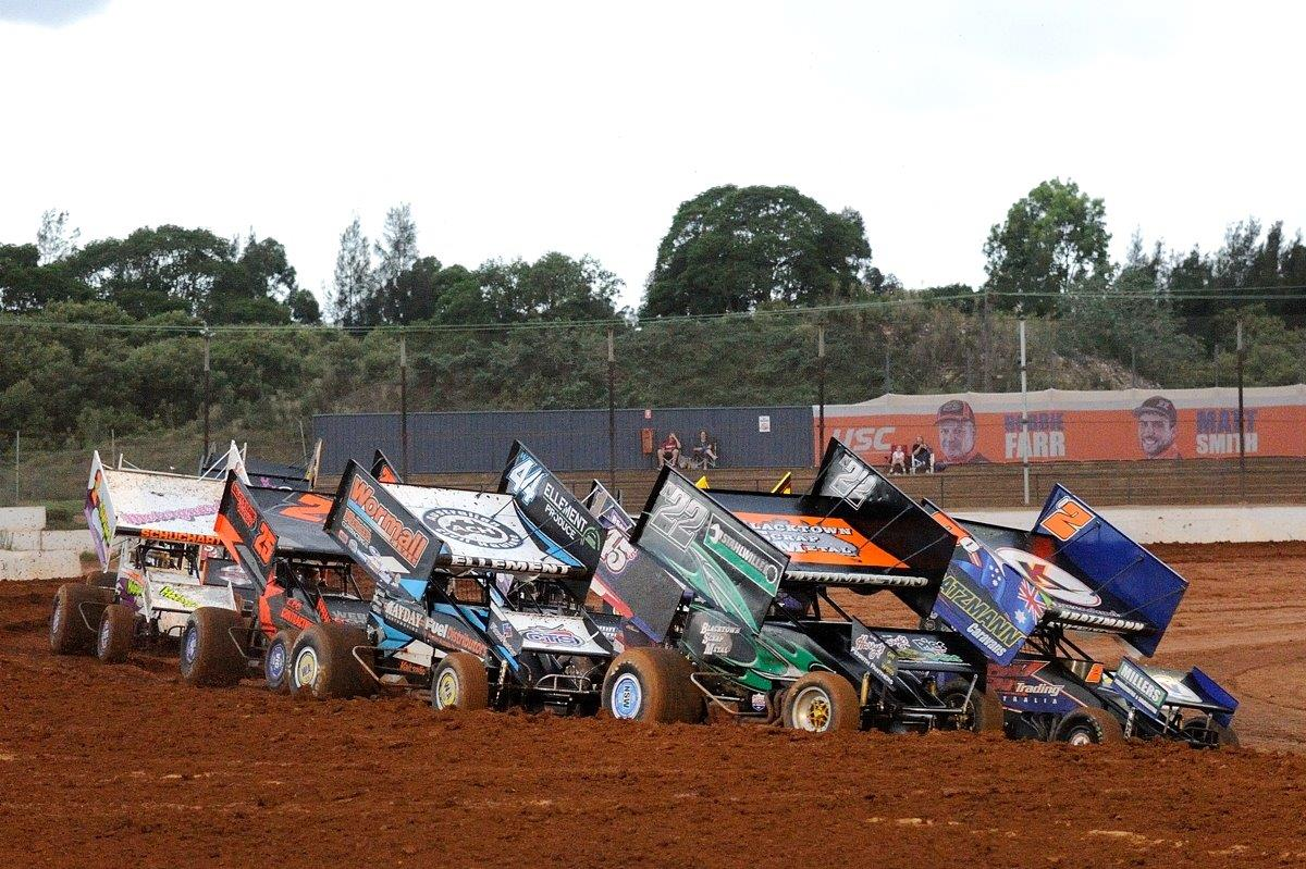 Ready to go in one of the 15-lap heats