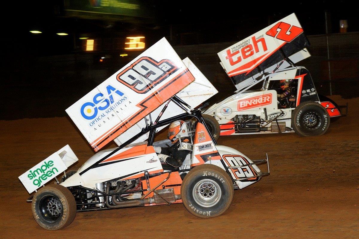 Jay Waugh (99) and Brooke Tatnell (2)