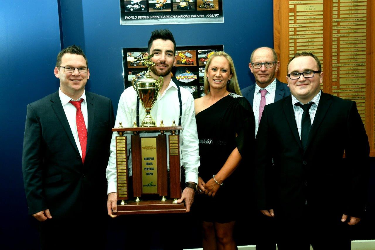 James McFadden holds the WSS Champion Driver Perpetual Trophy - His name is now on at !. George Tatnell was the first winner back in 1987/88