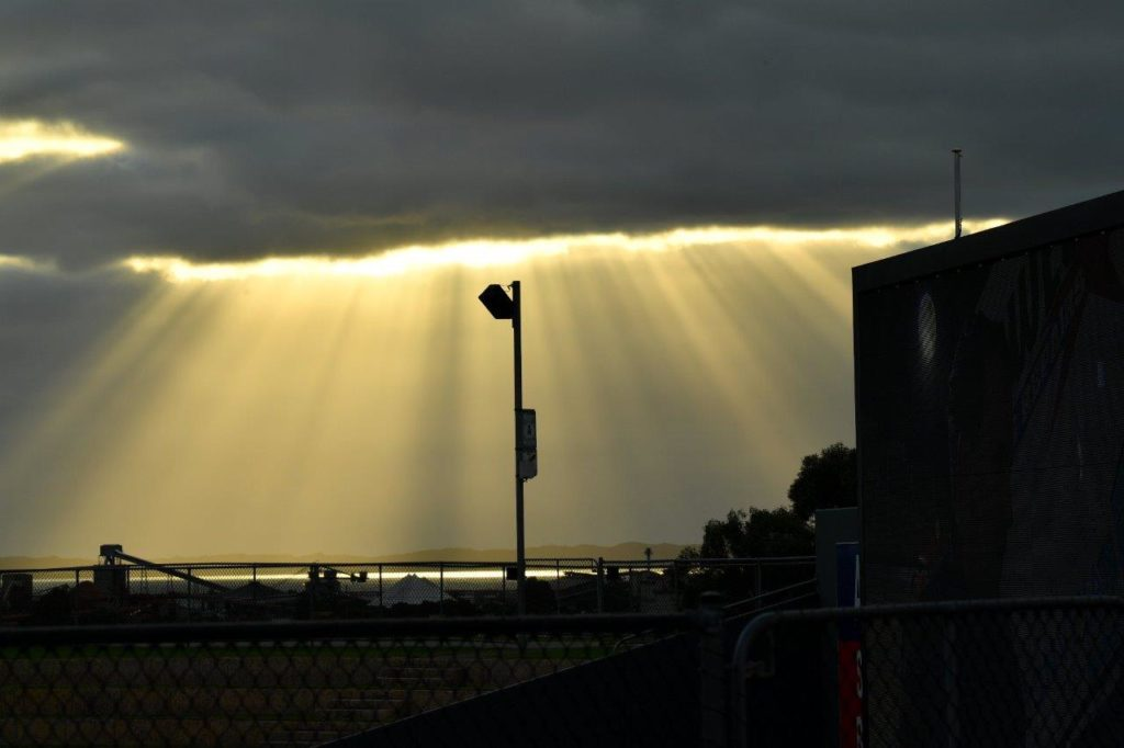Peter Roebuck caught this ripper image of Kwinana Beach as a Motorplex Backdrop