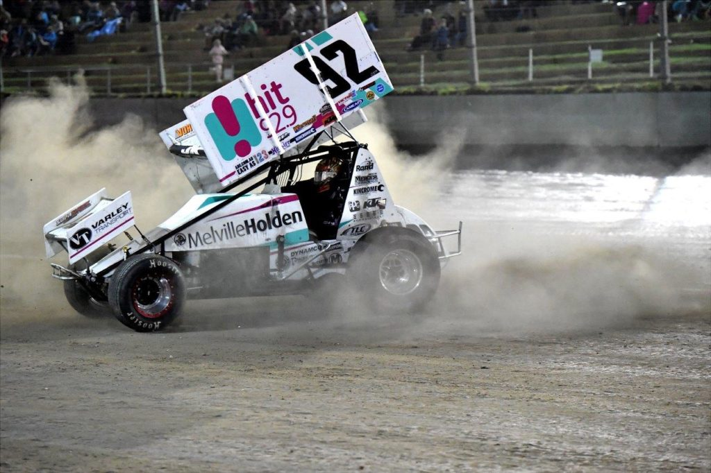 Jason Kendrick does some celebratory donuts after taking out the Gold Cup