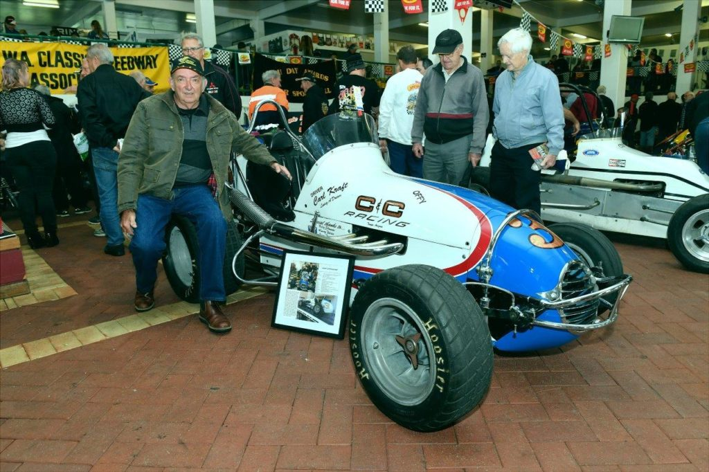 The great Charlie West sitting on Des Ferris's Offenhauser speedcar