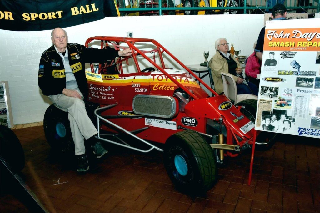 Former Racer George Jones with Geoff Stanton's Speedcar
