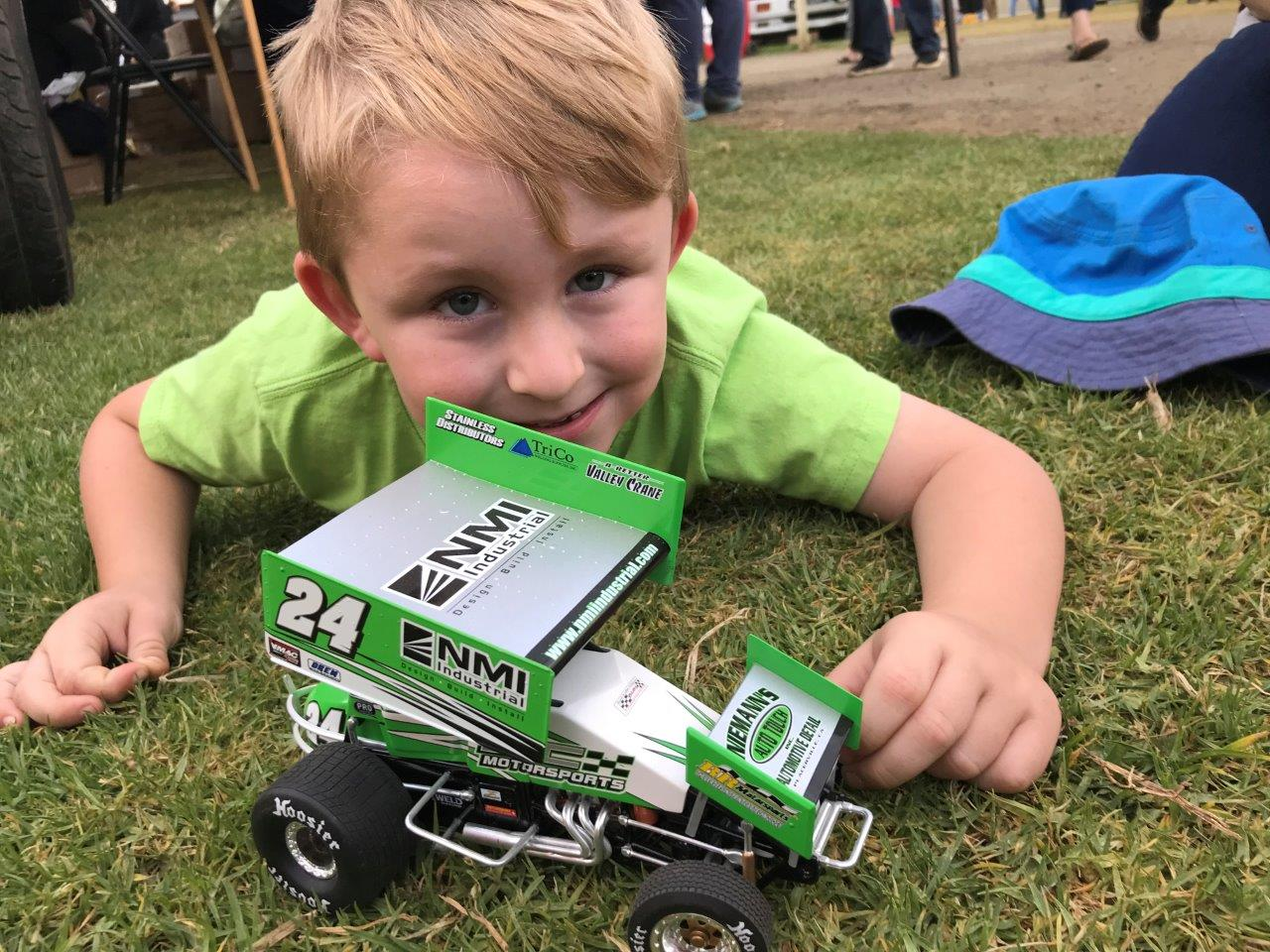 Model Sprintcars like GASC Winners' Corey McCullagh were a popular item after his win