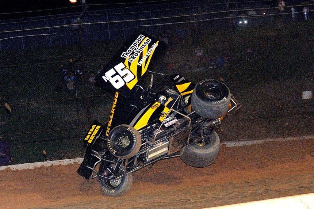 Believe it or not, Brendan Rallings did not go over during this incident, but damage from the hard landing meant his Final was over